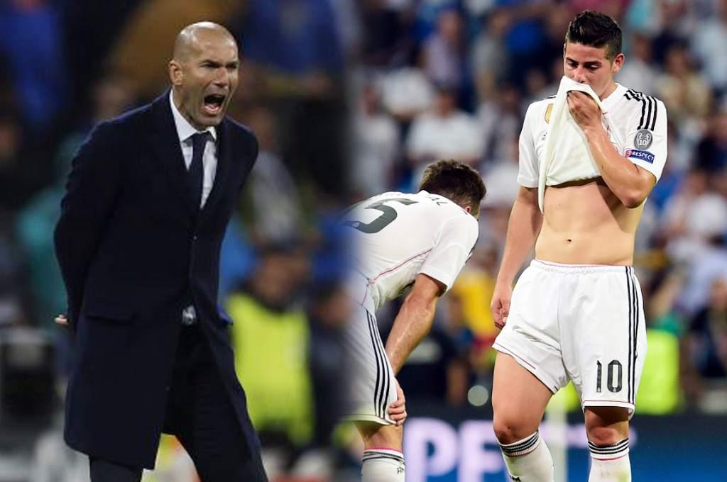 Zidane borra a James': Quedaría sin Champions y sin Selección Colombia